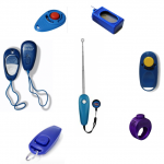 Selection of dog and cat training clickers
